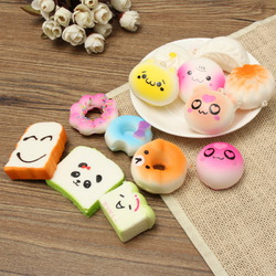 13PCS Simulation Cute Soft Squishy Super Slow Rising Ball Chain Kid Toy Collection