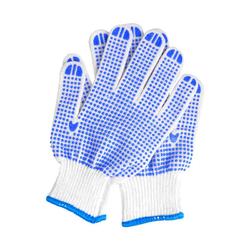 Labour Protection Anti Skid Wear Resistant Gloves Blue Plastic Dot Gloves Light Comfortable Garden
