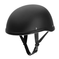 Motorcycle Helmet Vintage Half Face Cap Matte Black