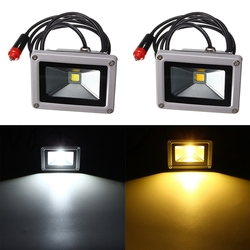 10W 12V LED Flood Spot Lightt Work Lamp with Car Charger Waterproof For Camping Travel