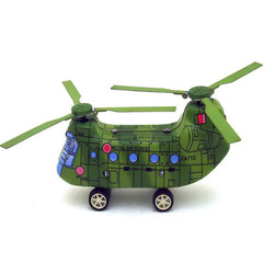 Classic Vintage Clockwork Helicopter Wind Up Children Kids Tin Toys Reminiscence With Key