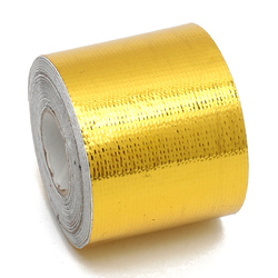 Category: Dropship Tapes, Adhesives & Sealants, SKU #1146278, Title: 5cmx10m Heat Cool Reflective Tape 500 Degree Gold Heat Protection