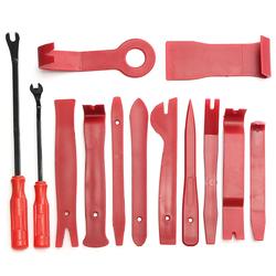 13Pcs Red Auto Car Audio Door Dash Tirm Panel Install&Removal Pry Tools Bag