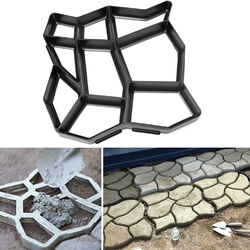 60x50cm Garden DIY Plastic Path Maker Mould Stone Road Paving Cement Brick Mold