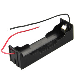 20pcs DIY 1 Slot 18650 Battery Holder With 2 Leads
