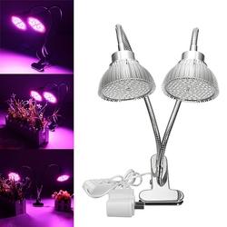 30W Flexible Clip-on Hydroponics Plant LED Dual Grow Light Full Spectrum Flower Lamp