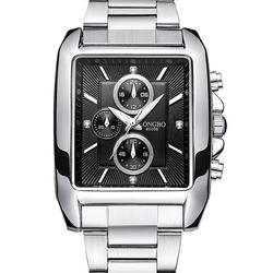 LONGBO 80006 Men Watch Steel Strap Alloy Case Luminous Fashion Casual Quartz Wrist Watch