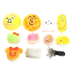 10Pcs Children's Sports Toys PU Foam Sponge Elastic Ball Funny Baby Toys Cartoon QQ Expression Toy