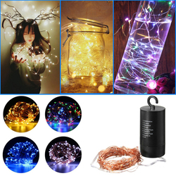 Battery Powered 10M Waterproof Copper Wire Black Shell Fairy String Light For Christmas Wedding
