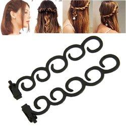 Waterfall Twist Roller Back Hair Styling Clip Stick Bun Maker Braid Tool Hair Accessories