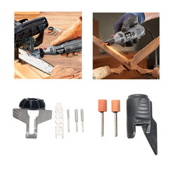 HILDA Chain Saw Sharpening Attachment Sharpener Guide with Garden Tool Sharpener Drill Adapter