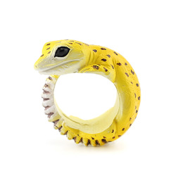 Cute Creative Animal Dorable Gecko Resin Fingerings Unisex Accessories