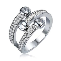 Women's Luxury Full Zircon Fine Copper Ring