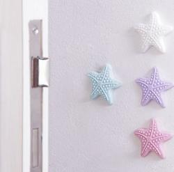 Starfish Silicone Door Knob Mute Luminous Elastic Stickers Crash Buffer Wall Protector Stickers