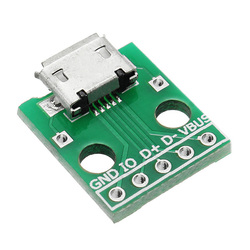 50pcs Micro USB To Dip Female Socket B Type Microphone 5P Patch To Dip 2.54mm Pin With Soldering Adapter Board