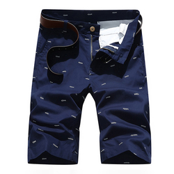 6 Colors Men's Casual Cotton Shorts Fashion Little Pattern Printted Sports Shorts