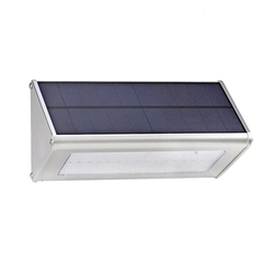 Solar 48 LED Radar Motion Sensor Wall Light Outdoor Waterproof Aluminum Alloy Security Lamp