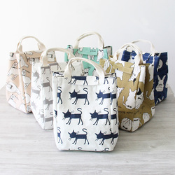 KC-CB06 Woman Hand-held Lunch Tote Bag Travel Picnic Cooler Insulated Handbag Lunch Bag