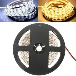 5M 24W 300LEDs SMD 3528 Pure White Warm White Flexible LED Strip Light Waterproof DC12V