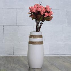 White Creative Modern Ceramic Flower Vase Handmade Flowers Bouquet Vase Home Decor
