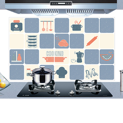 KC-WS020 45 x 75cm PVC Removable Kitchen Cookware Oil-proof Waterproof Wall Sticker Paper