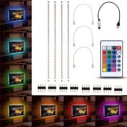 4pcs 50cm 5050 USB Powered RGB Color Change LED Strip Computer USB TV Backlight Light DC5V
