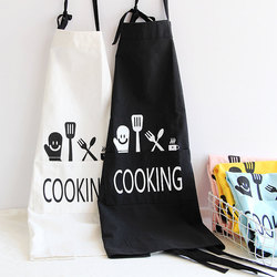 KC-APR04 Cotton Linen Dirty Proof Chef Apron Fashion Lattice Unisex Women Man Aprons Commercia