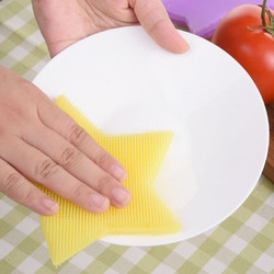 KC-SC41 Multi-function Star Shape Silicone Dish Cleaning Brush Scrubber Heat Resistant Coaster