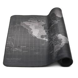 1000*500*2mm Super Large Size Anti-slip World Map Mouse Pad Keyboard Mat