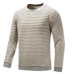 Autumn Winter Leisure Cotton Striped Printed Golf Shirt