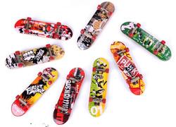 Random Color Graffiti Finger Skateboard Mini Suit With Tools Toys For Kids Children Gift