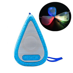 Outdoor Portable LED Light Weight Water Drop Shape HIFI Speaker with Mic for Xiaomi iPhone