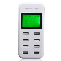 5V 8A 40W 8 Port LED Smart AC USB Wall Charger
