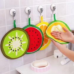 Honana Fruit Pattern Towel Absorbent Cloth Kitchen Towel Handkerchief Quick-Dry Cleaning Dish Cloth