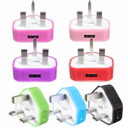 UK USB Plug Charger Mains Wall Home Adapter For Samsung Android Phone Tablets