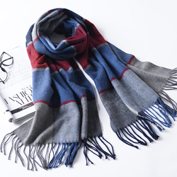 LYZA 190CM Women Autumn Warm Plaid Scarf Long Tassel Scarf Scarves Shawl