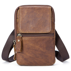 Genuine Leather Casual Vintage Single Shoulder Crossboby Bag For Men
