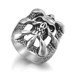 Halloween Punk Magic Dragon Ring Eight Claw Skeleton Gift Ring for Men