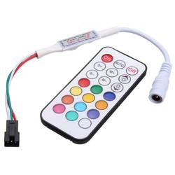 21 Keys LED Mini Dream Color IR Controller for WS2812 WS2812B WS2811 Strip Light DC5-24V
