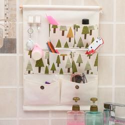 Honana BS-489 Bathroom Wash Cosmetic Bag Compact Cube Pouch Storage Bag Mesh Organizer with Hooks