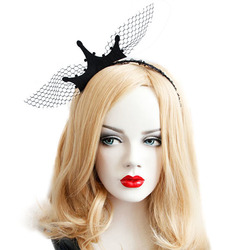 Halloween Party Queen Crown Headbrands Toys Vintage Baroque Girl Lace Hair Ornaments