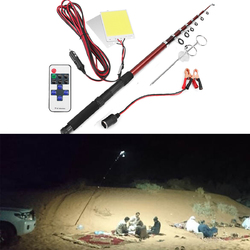 12V 2*96W Telescopic Fishing Lamp Car Rod Light LED Camping Lamp Remote Controller Car Lantern
