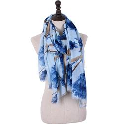 180CM Women Pashmere Warm Flower Soft Scarf