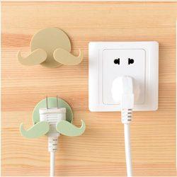 KC-WH08 Adhesive Mustache Plug Hook Creative Bedroom Bathroom Hat Key Door Hanger