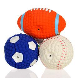 Yani DCT-3 Dog Toys Squishy Soft Bouncing Latex Ball Fetch Throw Balls Sound Training Teeth Toy