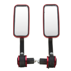 7/8inch 22mm Rectangle Handlebar End Motorcycle Aluminum Rear View Side Mirrors