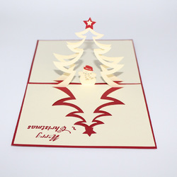 Christmas Tree and Snowman 3D Pop Up Greeting Card Christmas Gifts Party Greeting Card