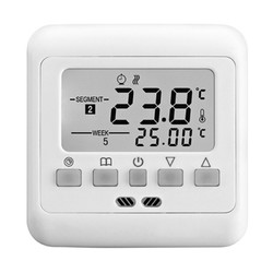 Digital Thermostat Weekly Programmable 16A 230V AC Wall Floor Thermostat With Sensor Cable Room Heating Cooling Control Home Automatic Temperature Control System
