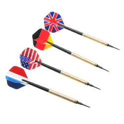 12Pcs Professional National Flag Tail Darts 4 Kinds With 100 Extra Soft Tips
