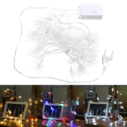 5M 40LEDs Plug-In Colorful Warm White Pure White Star Fairy String Light for Christmas Party AC220V